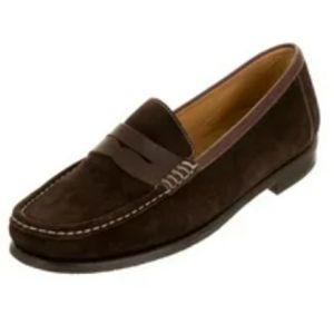 Martin Dingman Leather Suede Penny Loafers